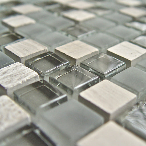 Mosaikfliese Solid white