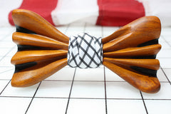 handcrafted wooden bow tie