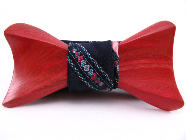 The Pink Ivory Wood Bow Tie