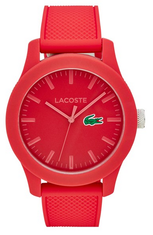 red lacoste watch