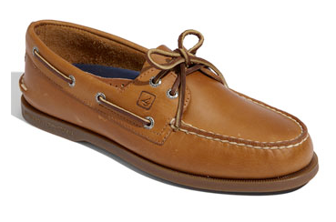 brown boat shoe