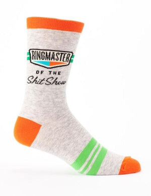Blue Q Dress Socks Ringmaster Sh*t Show Dress Socks