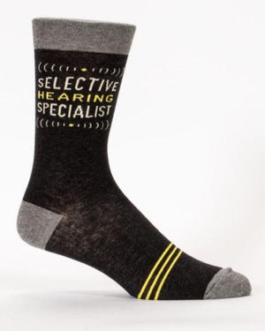 Blue Q Dress Socks Selective Hearing Dress Socks