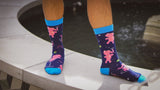 Drunk Elephant Socks - Graphic Crew Dress Socks