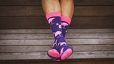 Flamingo Socks - Graphic Crew Dress Socks