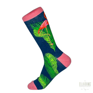 Flamingos #1 - Graphic Crew Dress Socks