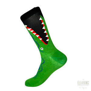 Gator Bait - Graphic Crew Dress Socks