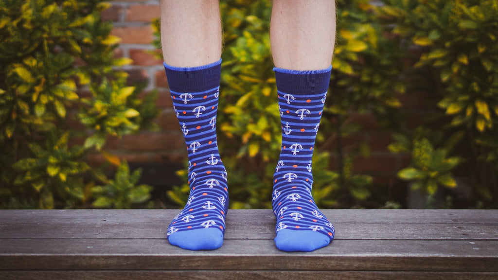 Old Sailor Socks - Graphic Crew Dress Socks