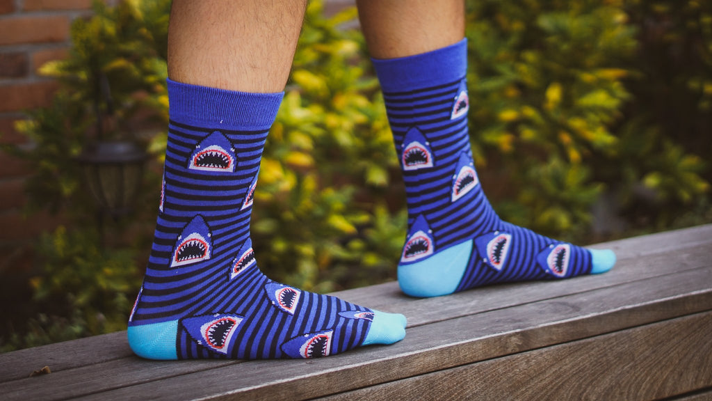 Shark Week Socks - Graphic Crew Dress Socks