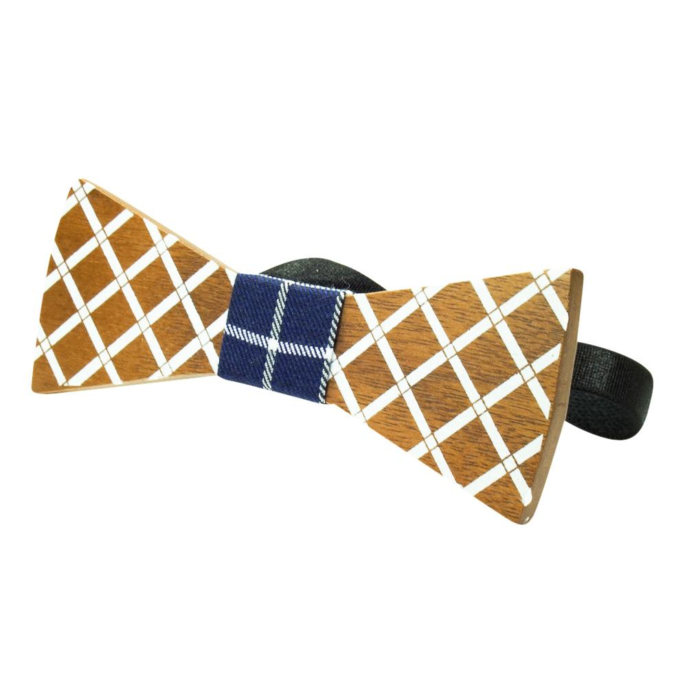 Flat Wooden Bow Tie No. 111