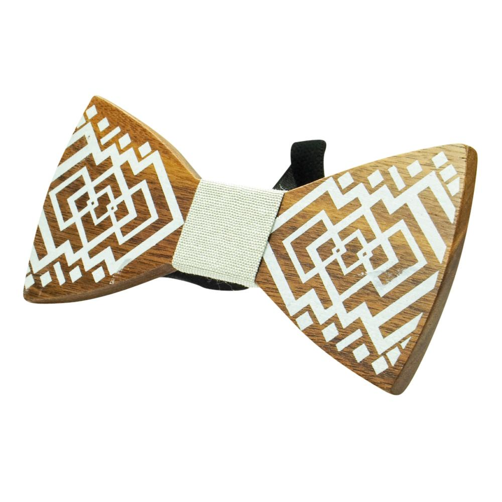 Flat Wooden Bow Tie No. 112