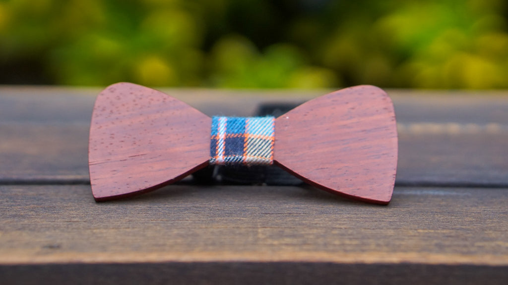 Flat Wooden Bow Tie No. 115