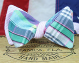 Ella Bing Freestyle The Pierre Charles - Madras/Seersucker Reversible Cloth Bow Tie