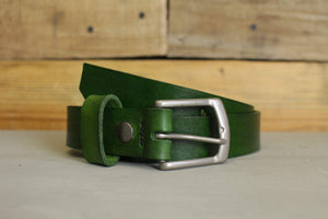 Ella Bing Green Leather Belt - The Weeki Wachee