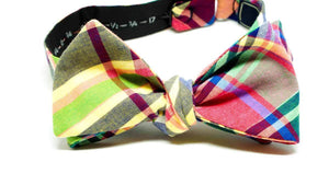 ELLA BING Plaid Bow Tie