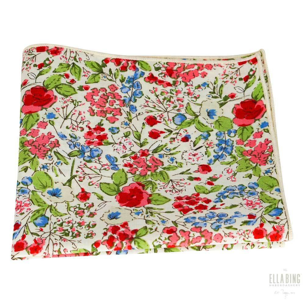 Floral Pocket Square No. 203