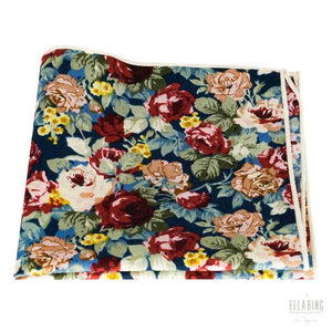 Floral Pocket Square Square No. 214