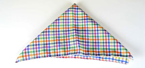 Colorful Check Pocket Square - Cotton