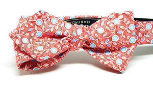 ELLA BING Red Cotton Bow Tie
