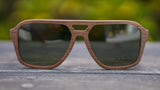 Polarized Wood Sunglasses No. 2290