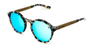 ELLA BING SERIES 8 Wooden Sunglasses Round Sunglasses No. 2055