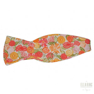 Ella Bing Signature Cloth Bow Ties Floral Cotton Bow Tie No. 461
