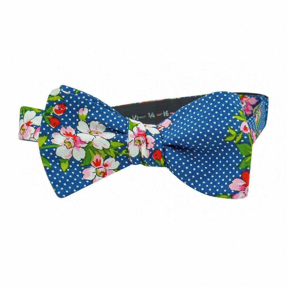 Navy Polka-Dot Bow Tie No. 469