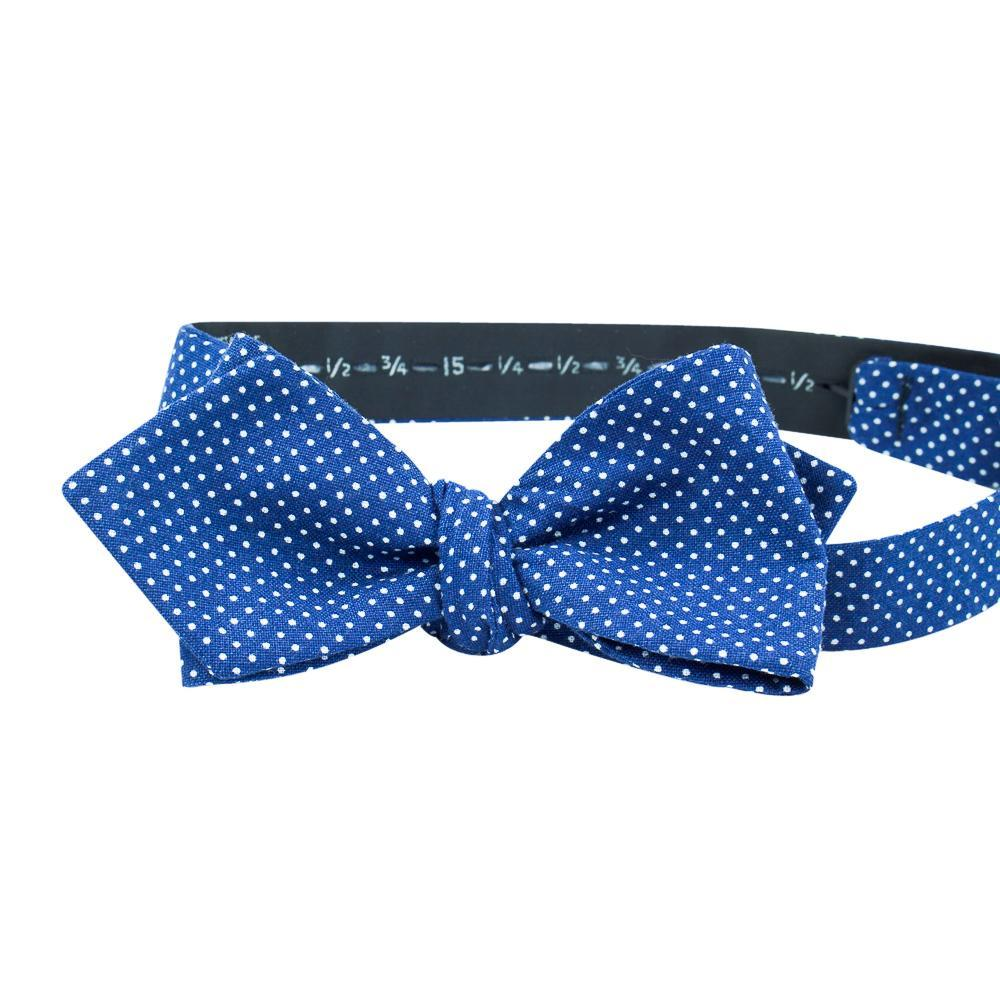 Navy Polka-Dot Bow Tie No. 471