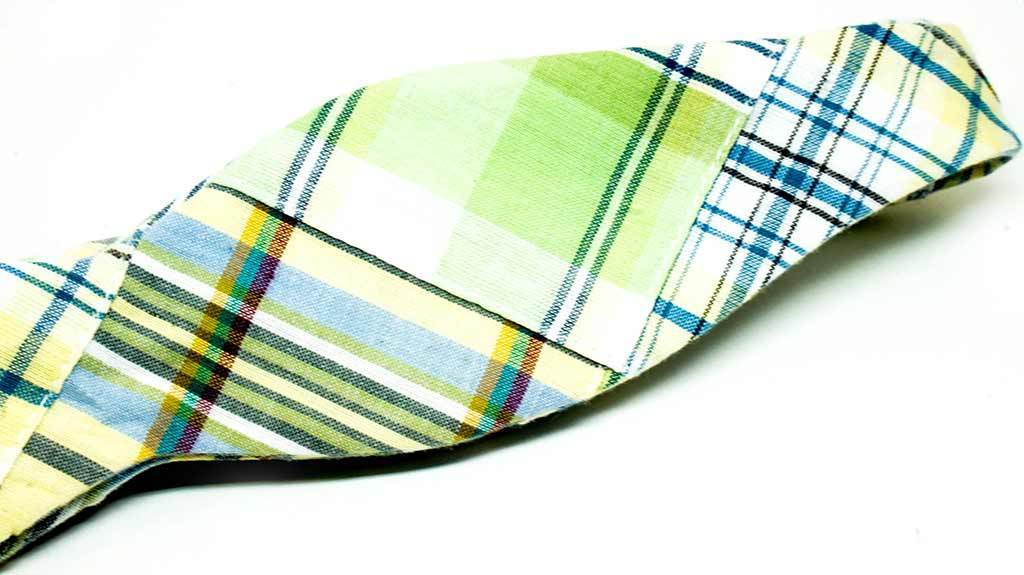 Patchwork Madras Bow Tie No. 875