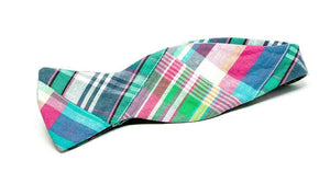 Ella Bing Signature Cloth Bow Ties Patchwork Madras Bow Tie No. 877