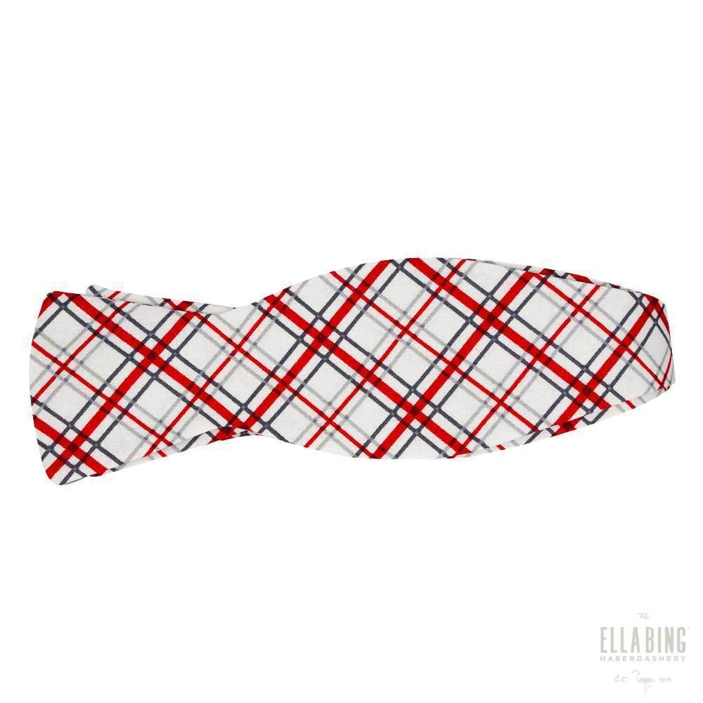 Plaid Cotton Bow Tie No. 463
