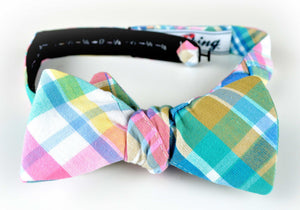 Ella Bing Signature Cloth Bow Ties The Blaine Whitaker Madras Bow Tie