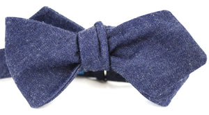 Ella Bing Signature Cloth Bow Ties The Brennan Sebastian Chambray Cloth Bow Tie