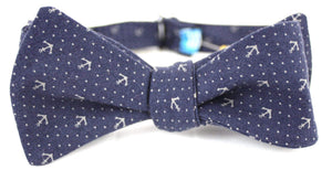 Ella Bing Signature Cloth Bow Ties The Brock Avery Dark Anchor Cloth Bow Tie