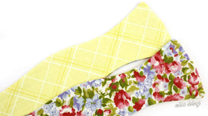 Ella Bing Signature Cloth Bow Ties The Duke Calcutta Floral Reverisble Cloth Bow Tie