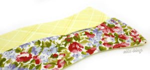 The Duke Calcutta - Floral Reversible Yellow Bow Tie