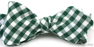 Ella Bing Signature Cloth Bow Ties The Jack Winchester Green Check Cloth Bow Tie