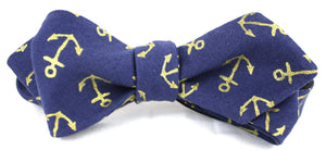 Ella Bing Signature Cloth Bow Ties The Julian Laird Anchor Cloth Bow Tie