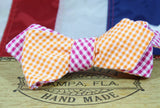 The Julius Leontel - Gingham Reversible Cloth Bow Tie