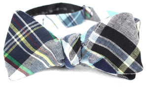 Ella Bing Signature Cloth Bow Ties The Lex Freeman | Dark Madras Bow Tie