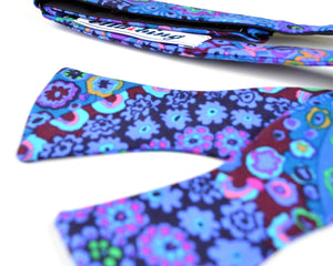 Ella Bing Signature Cloth Bow Ties The Taylor Sterling Paisley Bow Tie