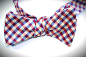 Ella Bing Signature Cloth Bow Ties The Virgil LeRoy - Silk Check Reversible Bow Tie
