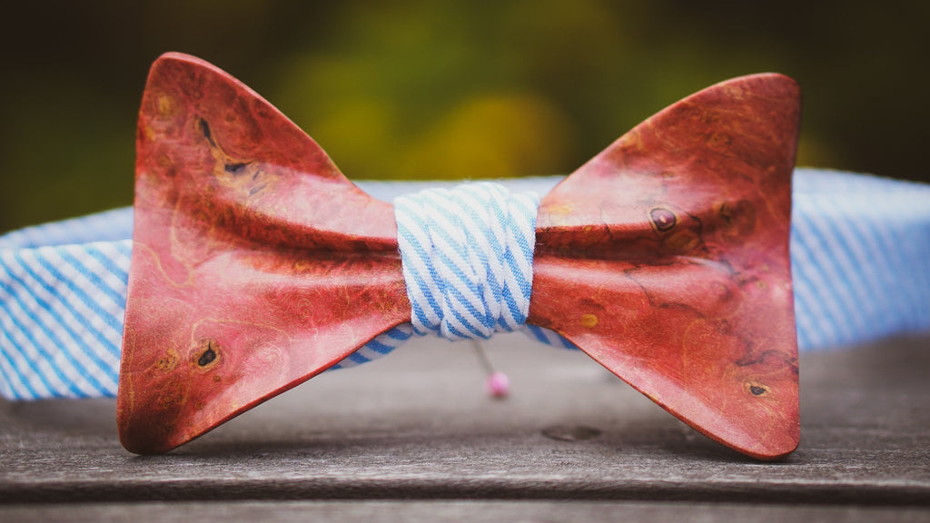 Stabilized Wooden Bow Tie No. 738