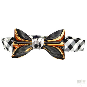 ELLA BING Signature Wooden Bow Ties Wooden Bow Tie No. 649