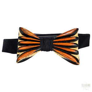 ELLA BING Signature Wooden Bow Ties Wooden Bow Tie No. 652