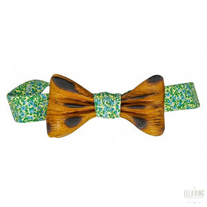 ELLA BING Signature Wooden Bow Ties Wooden Bow Tie No. 657