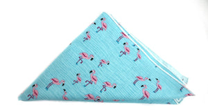 Ella Bing Spring 2015 Pocket Squares The Ella Bing Flamingo Pocket Square