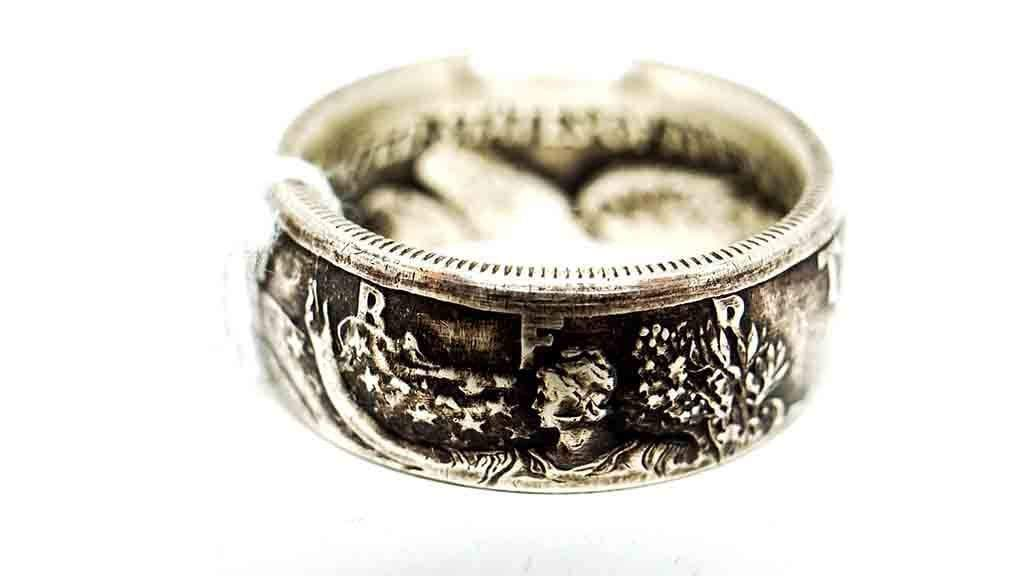 Vintage Coin Ring No. 1012