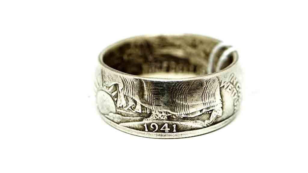 Vintage Coin Ring No. 1014