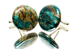 ELLA BING Wood Cufflinks No. 908